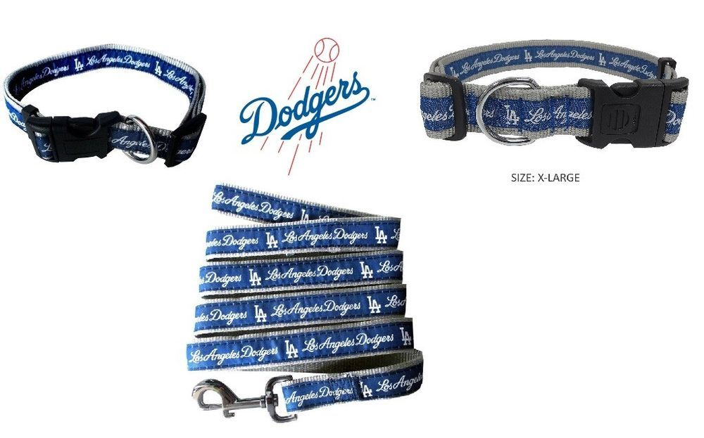 Los Angeles Dodgers Dog Collar or Dog Leash U pick one or both.  PetsFirst 0aed5dff1f6