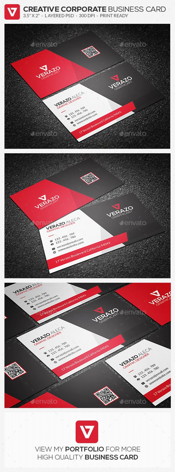 Creative Sleek Corporate Business Card 67 Corporate Business Card Business Cards Creative Buy Business Cards