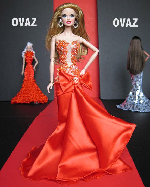 barbie doll gowns ..12 26 3