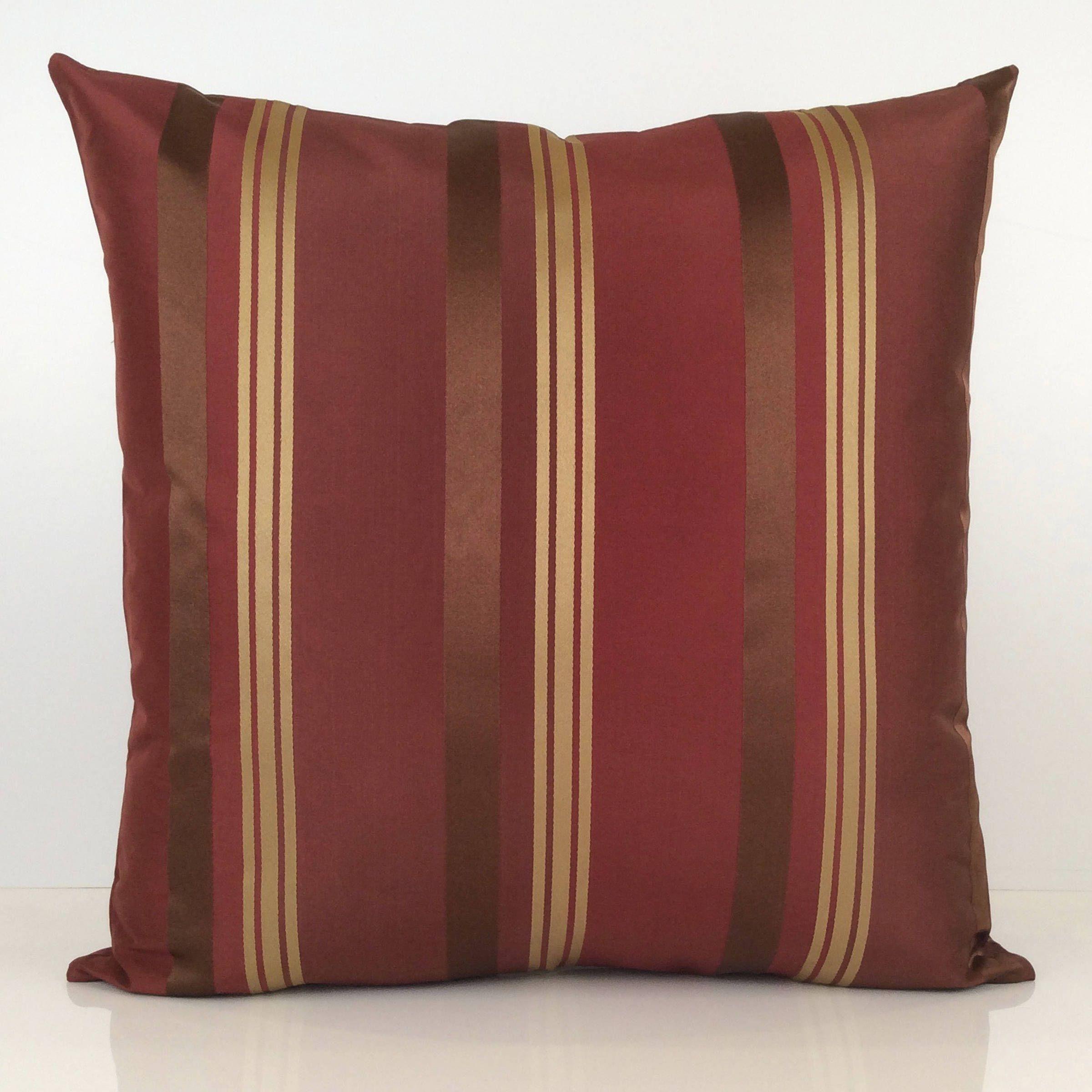 Burgundy goldish tan Decorative Throw Pillow Covers Cushion | Etsy