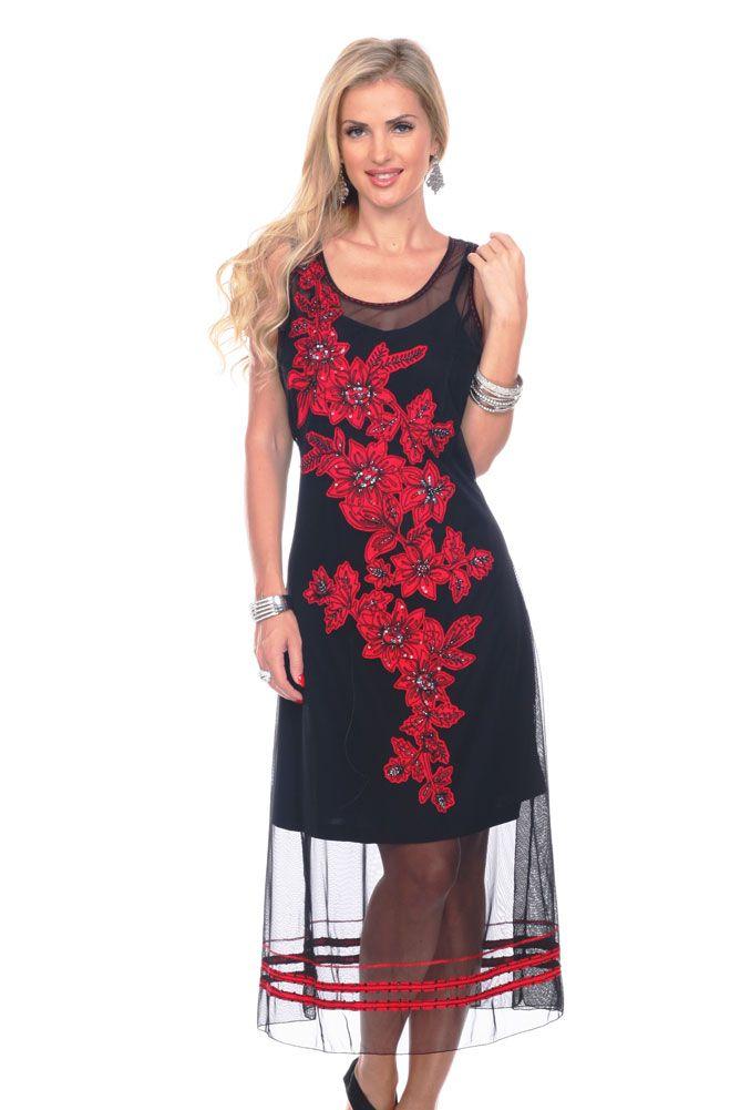 Elegant Western Embroidered Beaded Long Formal Dress Western