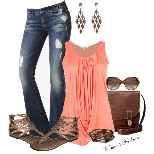 Cute spring outfit... minus the earrings because I don't do dangly earrings