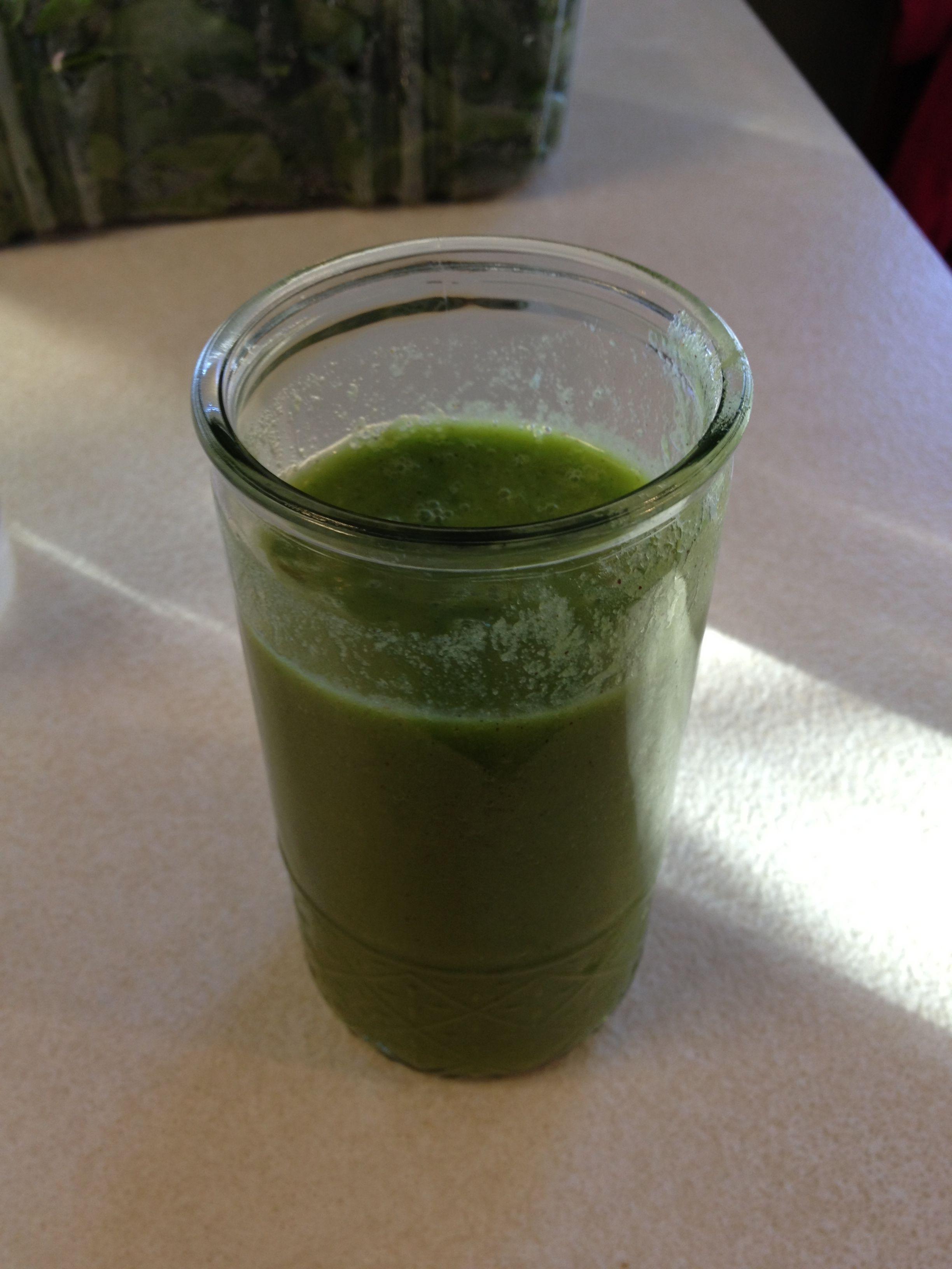 My version of Green Machine Homemade Apple Juice All