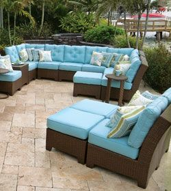 Palm Springs Rattan Kokomo Outdoor Furniture Sets Brown Furniture Outdoor Decor
