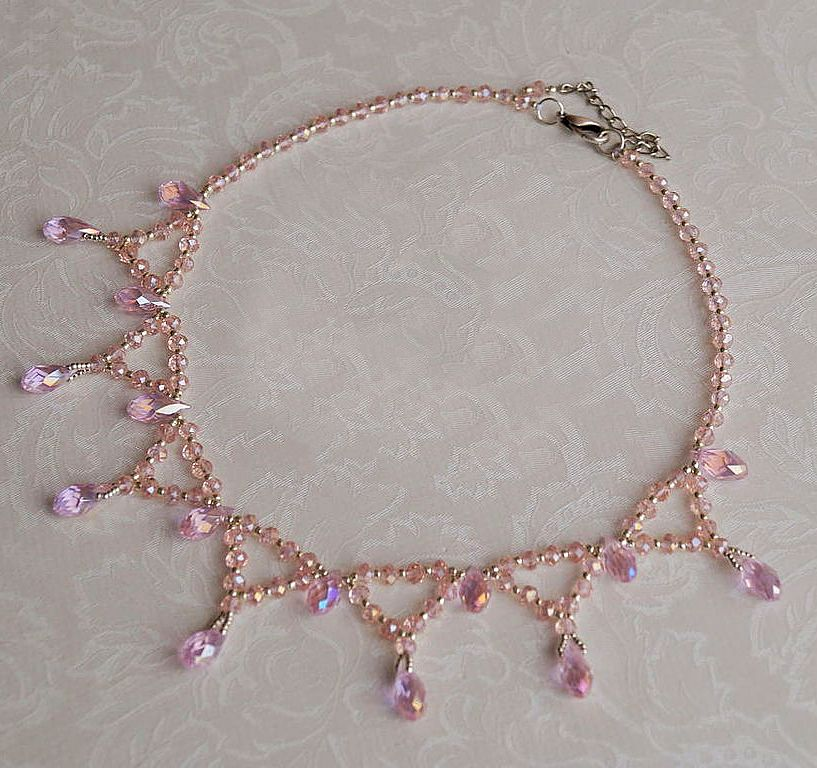 Free pattern for necklace zefir beads magic free for Simple beaded jewelry patterns