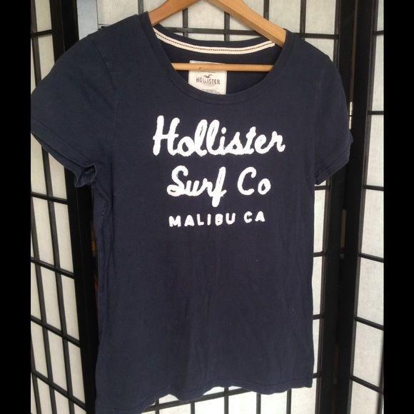 Navy blue Hollister Surf Company shirt Very soft, navy blue