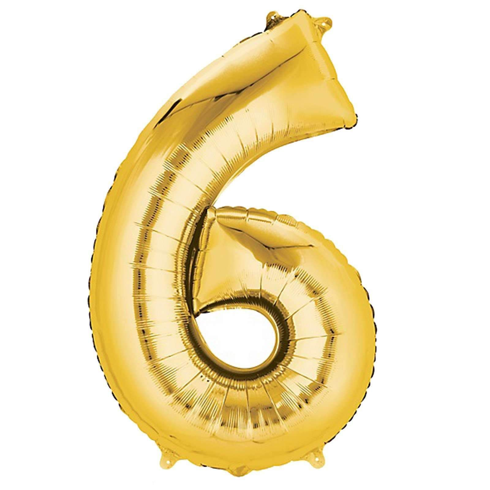 40 Gold Mylar Foil Number Helium Balloons Birthday Party