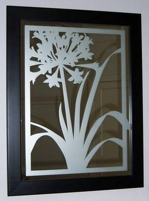Etched Mirror Glass Painting Etched Mirror Glass Etching