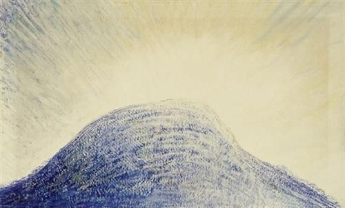 (1863-1929) Blaue Bergkuppe - Albert Trachsel