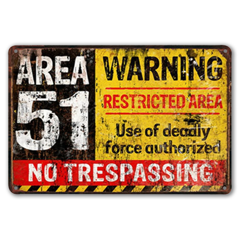 Metal Tin Sign funny no trespassing sign Decor Bar Pub Home Vintage Retro Poster