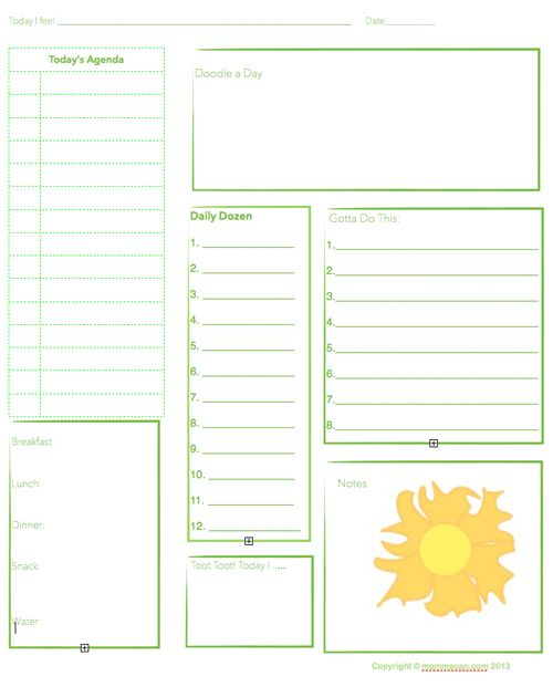Free Printable Daily Planning Agenda  Sheet For Summer  Mommacan