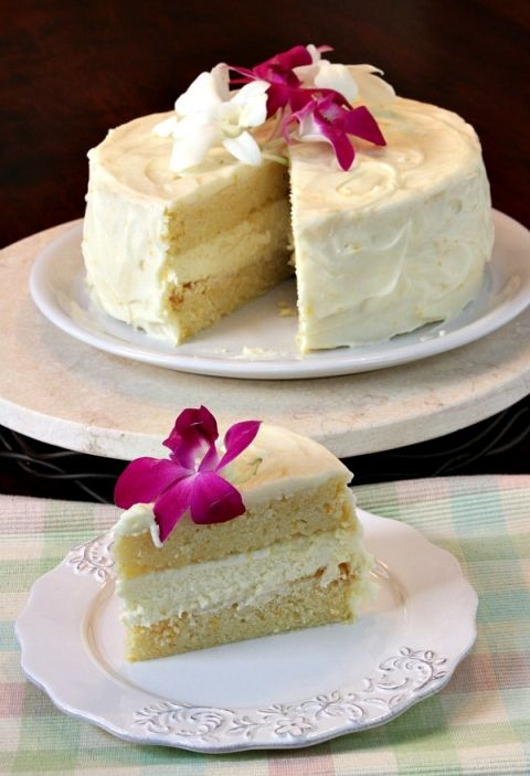 Meyer Lemon Cheesecake Cake 6