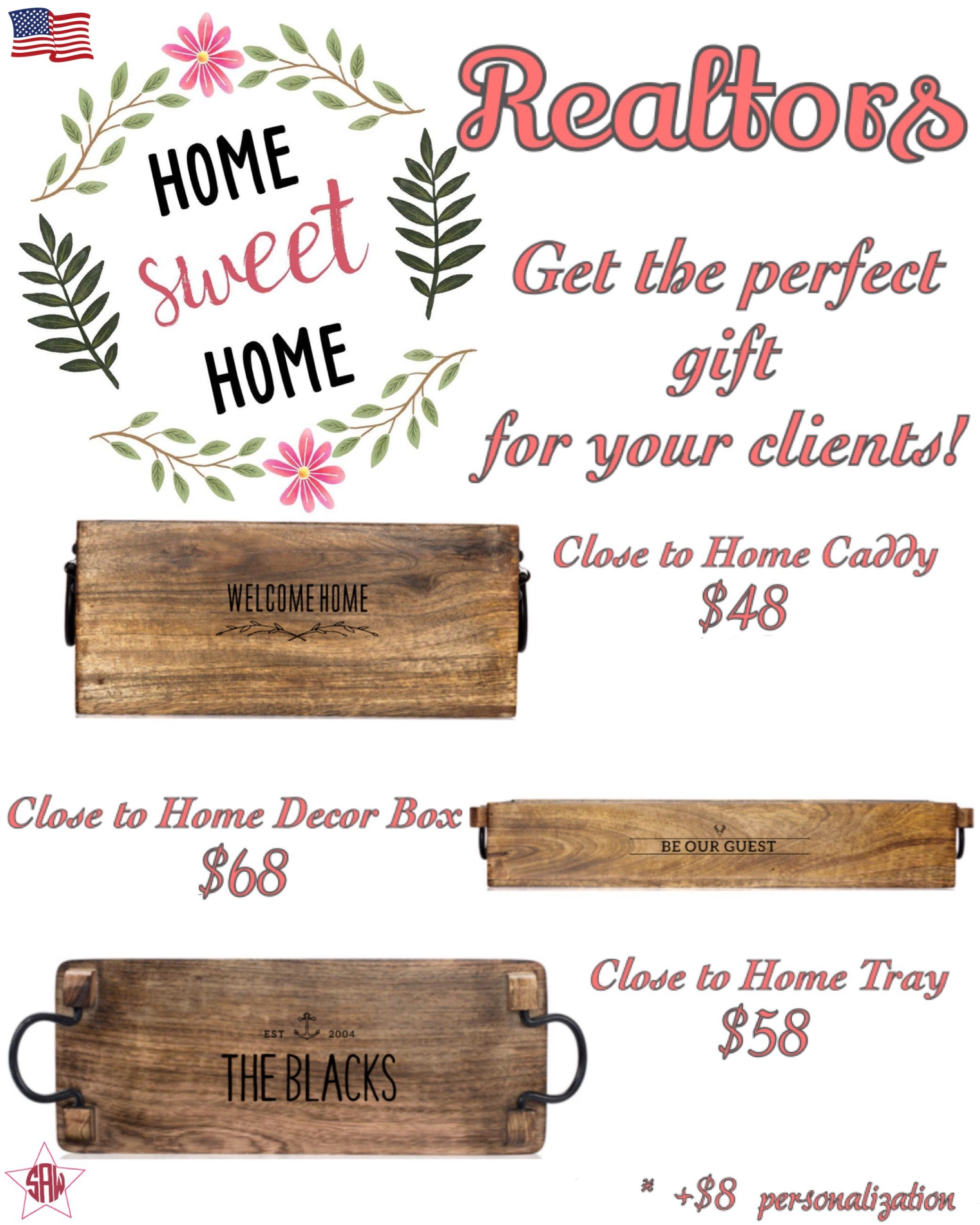 Realtors gifts to welcome new home owners! American prices. Close to ...