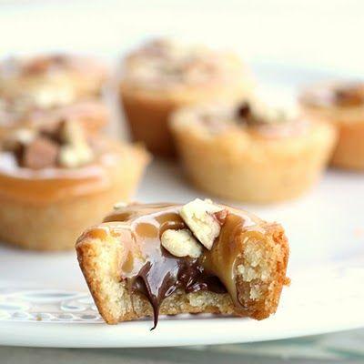 Turtle Tassies Desserts Cookie Recipes Food