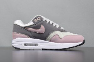 Womens Nike Air Max 1 Soft Pink Vast Grey Particle Rose Gunsmoke Black 319986  032 Running ca3f4cb65