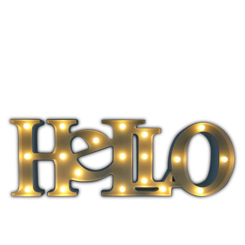 Letras Luminosas Decorativas HELLO