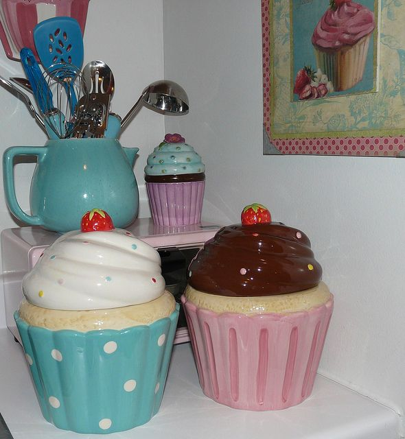 Cupcake Canisters For Kitchen: Fantastic Cupcake Home Decor 26 With Additional Home