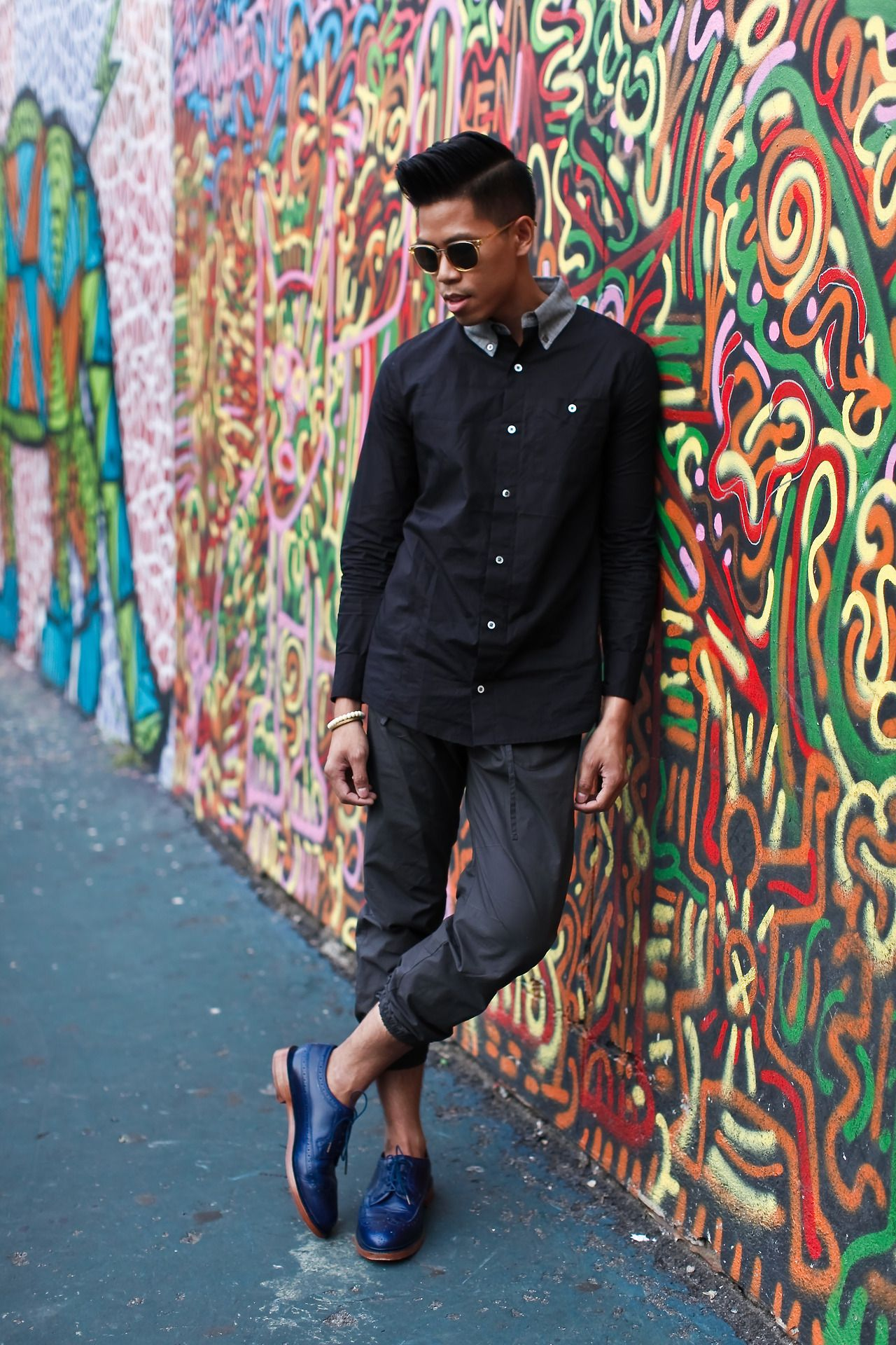 Outfit: Men's Street Style Black And Blue I... | Closet Freaks | Menswear & Personal Style