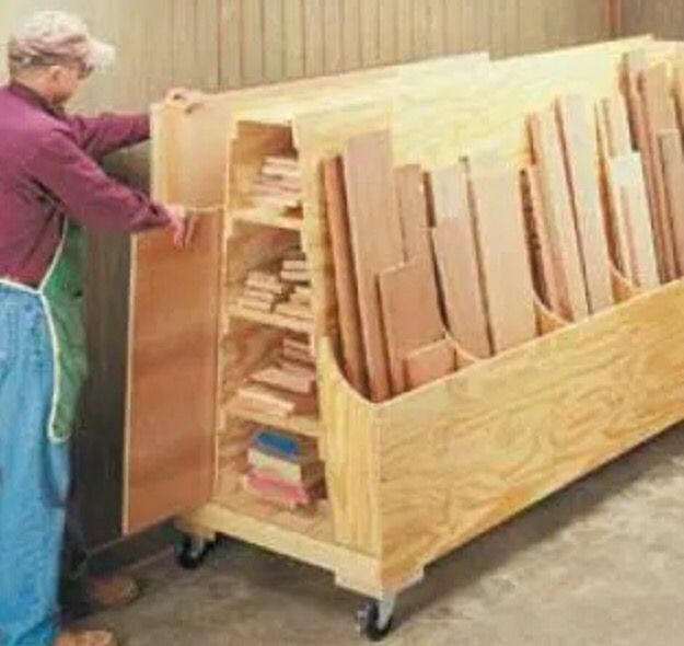 material storage woodshop pinterest storage tiny living and rh pinterest com Rolling Plywood Storage Rack Rolling Plywood Storage Cart Plans & Garage Storage Cart Plywood - High Quality Clip Art Vector u2022