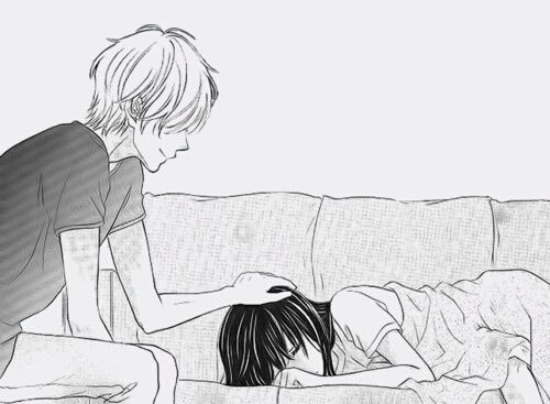 Et Noir Couple Amour Manga Blanc Manga Pinterest Manga