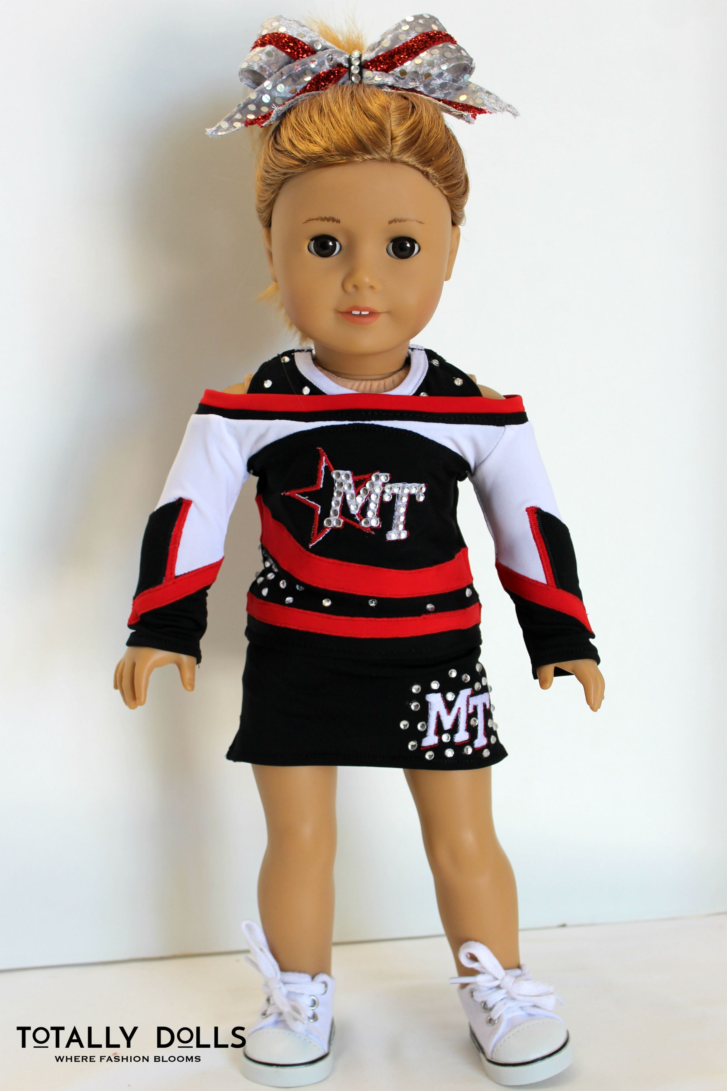 Lovely Handmade Girl Doll Cheerleading Outfits for AG American Doll 18inch Doll
