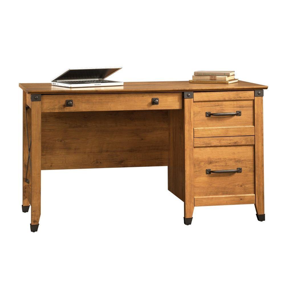 Sauder Desk Amber Pine Furniture Office Home #SauderFurniture