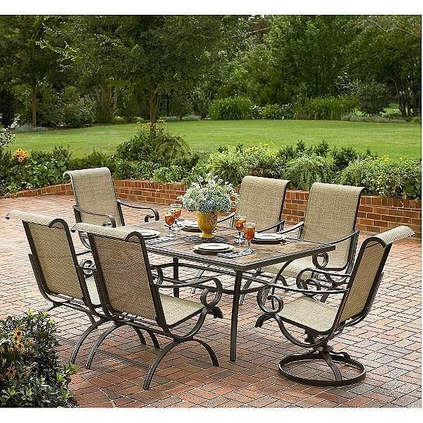 Outdoor Brown Conventional Stained Steel Conversation Set
