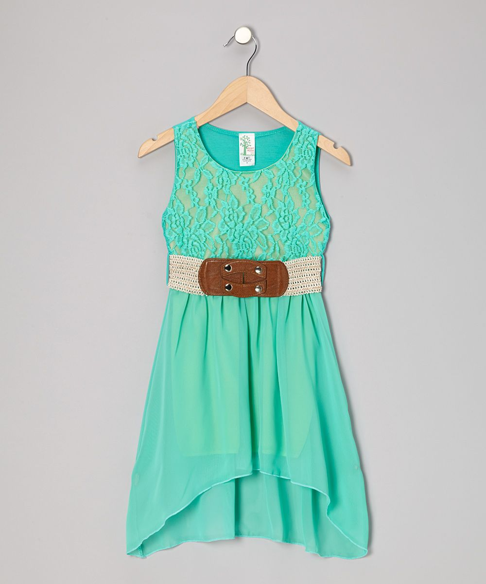 Mint Lace Hi Low Dress Girls Daily Deals For Moms