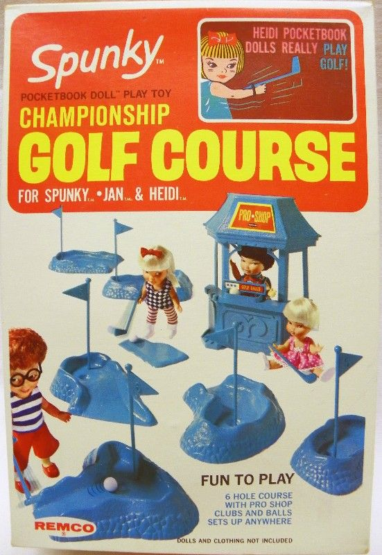 Remco 1968 Spunky Championship Golf Course Set Doll