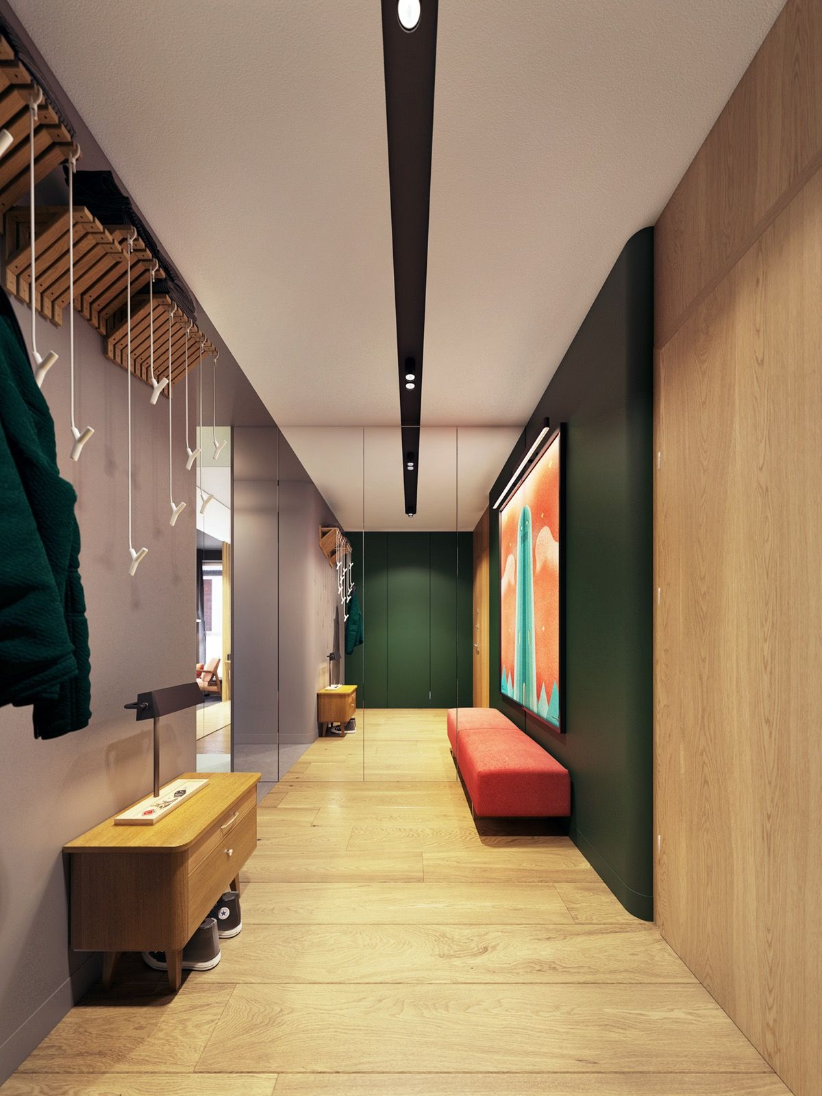 Color in Compact Apartments Blends Personality ...