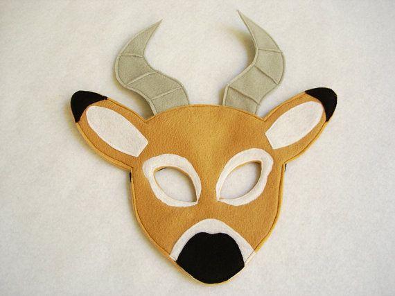 Children's IMPALA Felt Animal Mask by magicalattic on Etsy ...