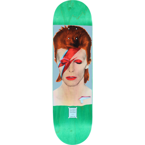 Prime Heritage Jason Lee David Bowie 8 5 Skateboard Deck Green Stain Skateboard Decks Skateboard Art Skateboard