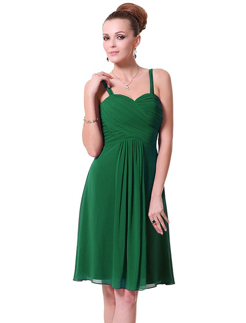 Ever Pretty Ruffles Padded Chiffon Knee Length Bridesmaid Dresses 03539 At Amazon Womens Clothing Store