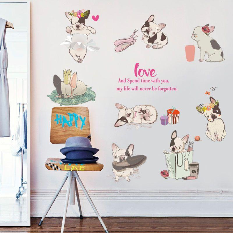 Wall decals kids Wall stickers Baby Nursery Room Decor Dog/'s Love