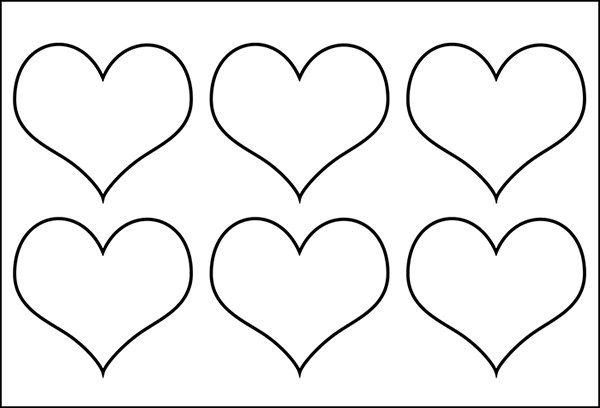 heart shaped template heart template printable Holidays