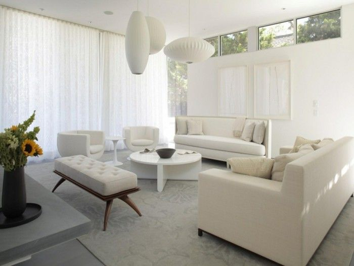 Sofa In White 35 Living Room Facilities With A White Accent