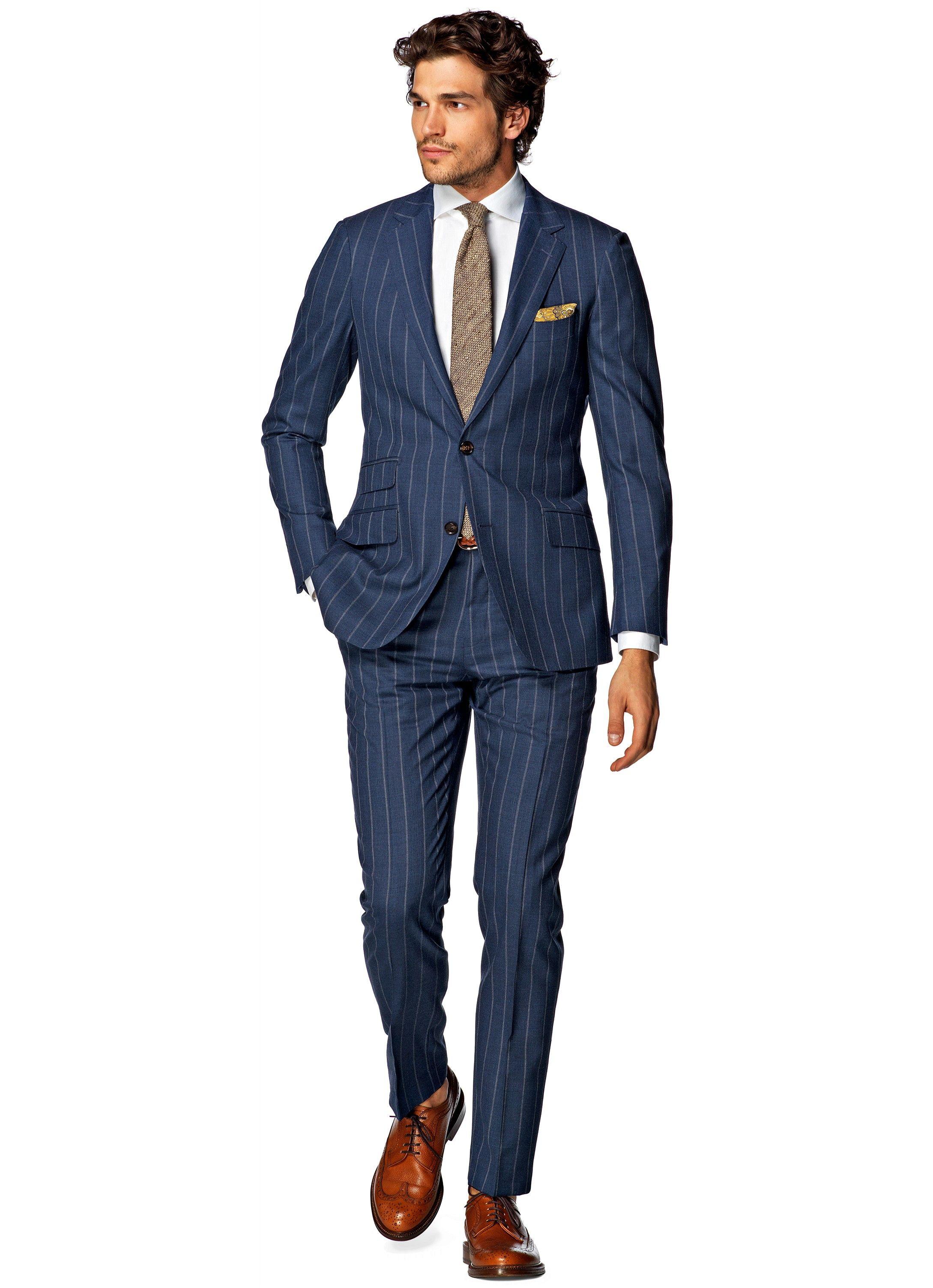 _Синий_В_полоску_Sienna_P4210I Best suits for men, Well