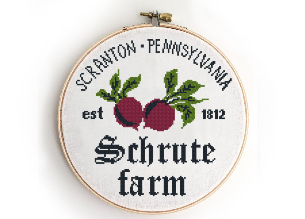 Photo of Farm cross stitch the office  beet   funny quote beets hoop – Cross Stitch Pattern (Digital Format – PDF)