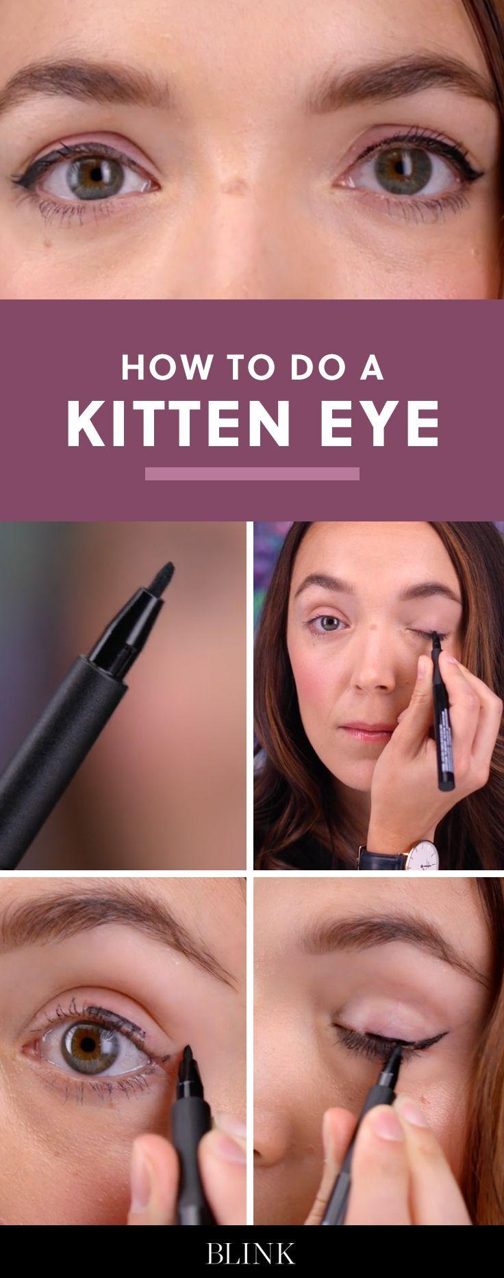 How to do a kitten eye blinkbeauty makeuptutorial cateye how to do a kitten eye blinkbeauty makeuptutorial cateye beautytutorial baditri Image collections