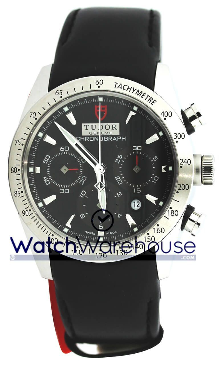 4f78f6167e1 Shop New Tudor 42000-LTHR BLK IND Fastrider Chronograph Black Dial Men Watch  for less on sale @ WatchWarehouse.com Free Shipping 30 Day Money Back