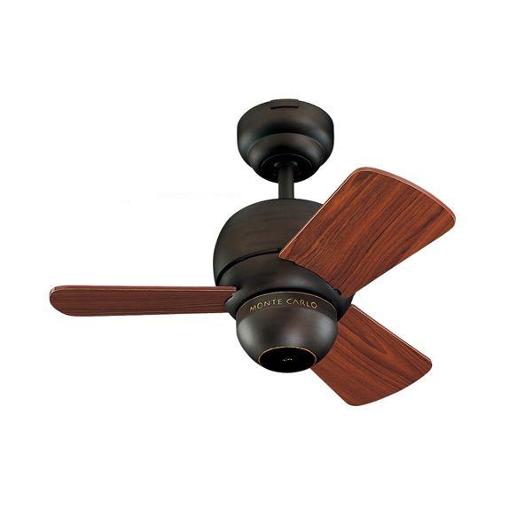 Perry Mini Ceiling Fan Roman Bronze Housing With Teak Blades Bronze Ceiling Fan Outdoor