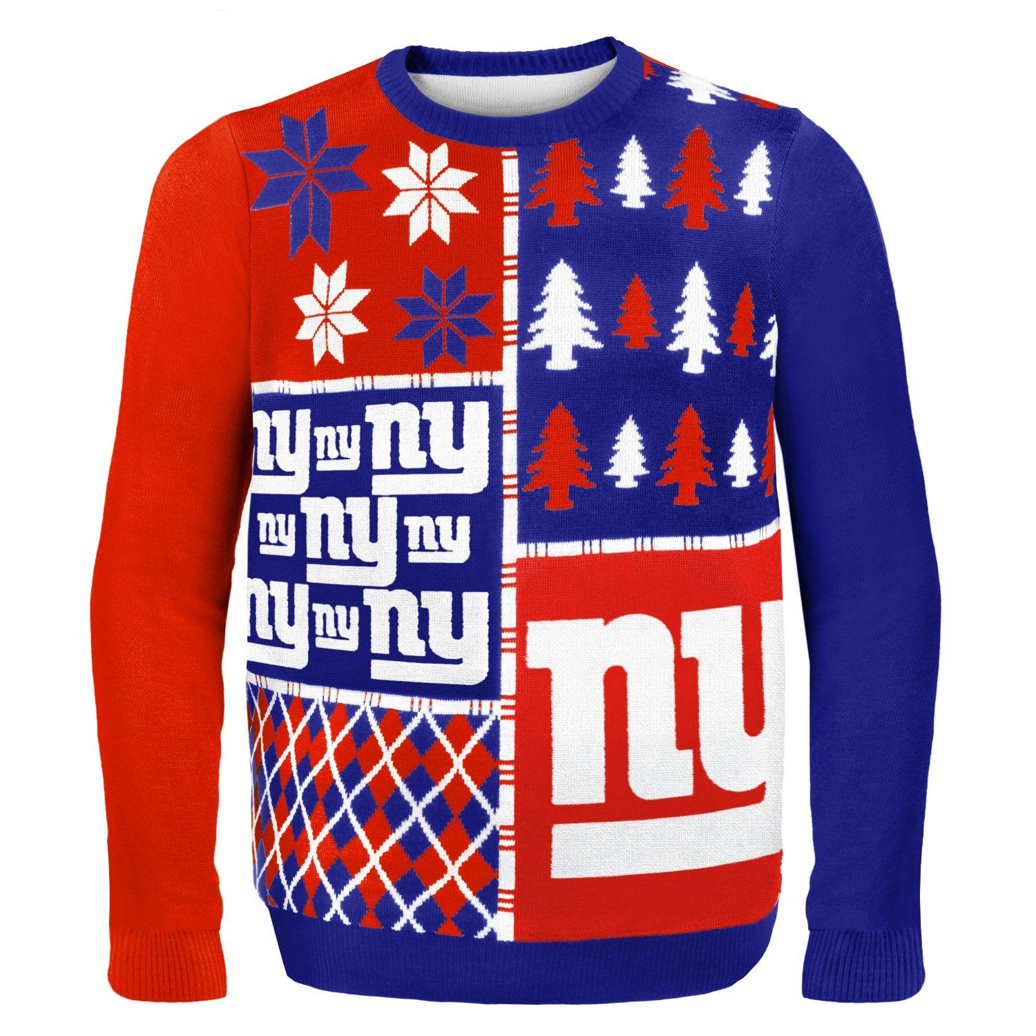 NFL Busy Block Ugly Sweater – New York Giants | NFL-NFC East Ugly ...
