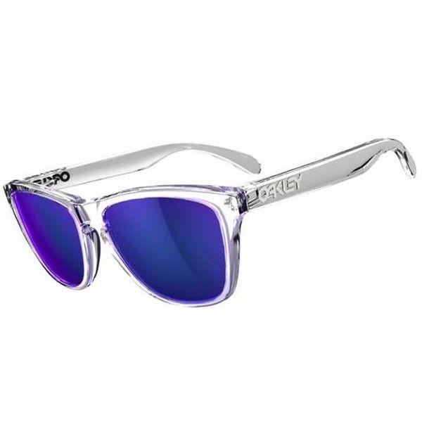 5b7cc52472 Oakley Frogskins Sunglasses - Polished Clear / Violet Iridium ...