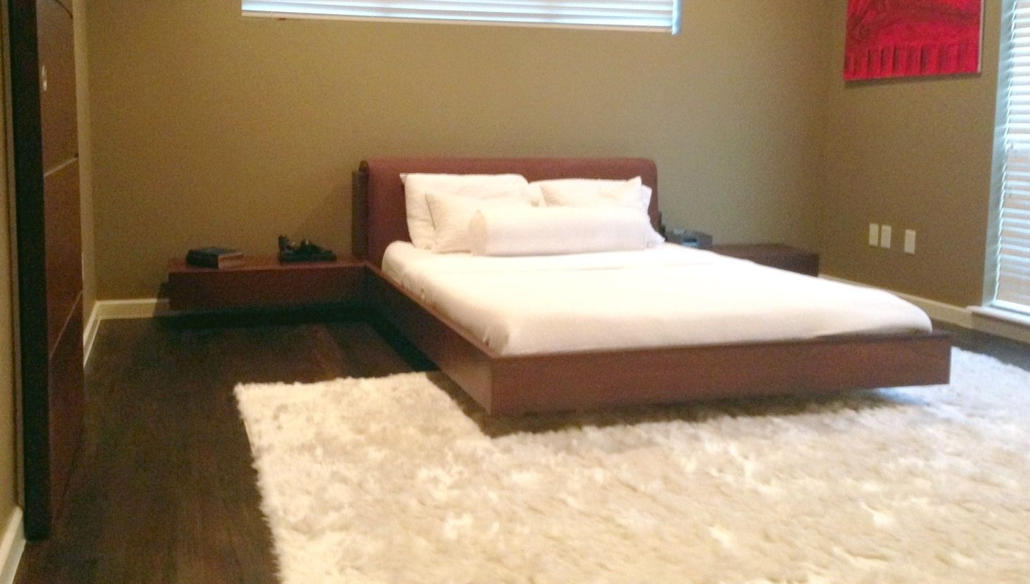 Exceptionnel Custom Made Floating Queen Size Platform Bed