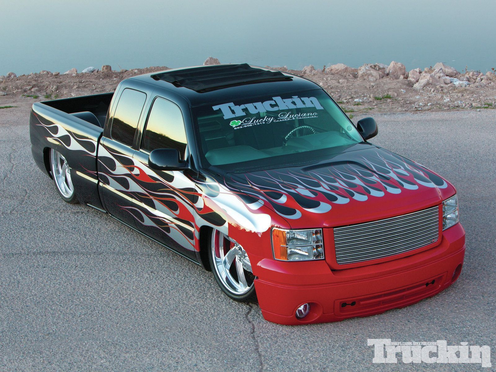 Custom 2006 gmc truckin magazine