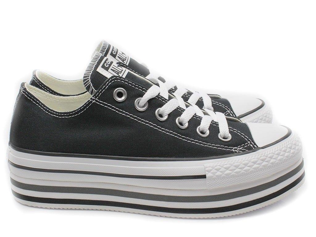 Converse sneaker CT All Star Platform Layer - zwart in 2020 ...