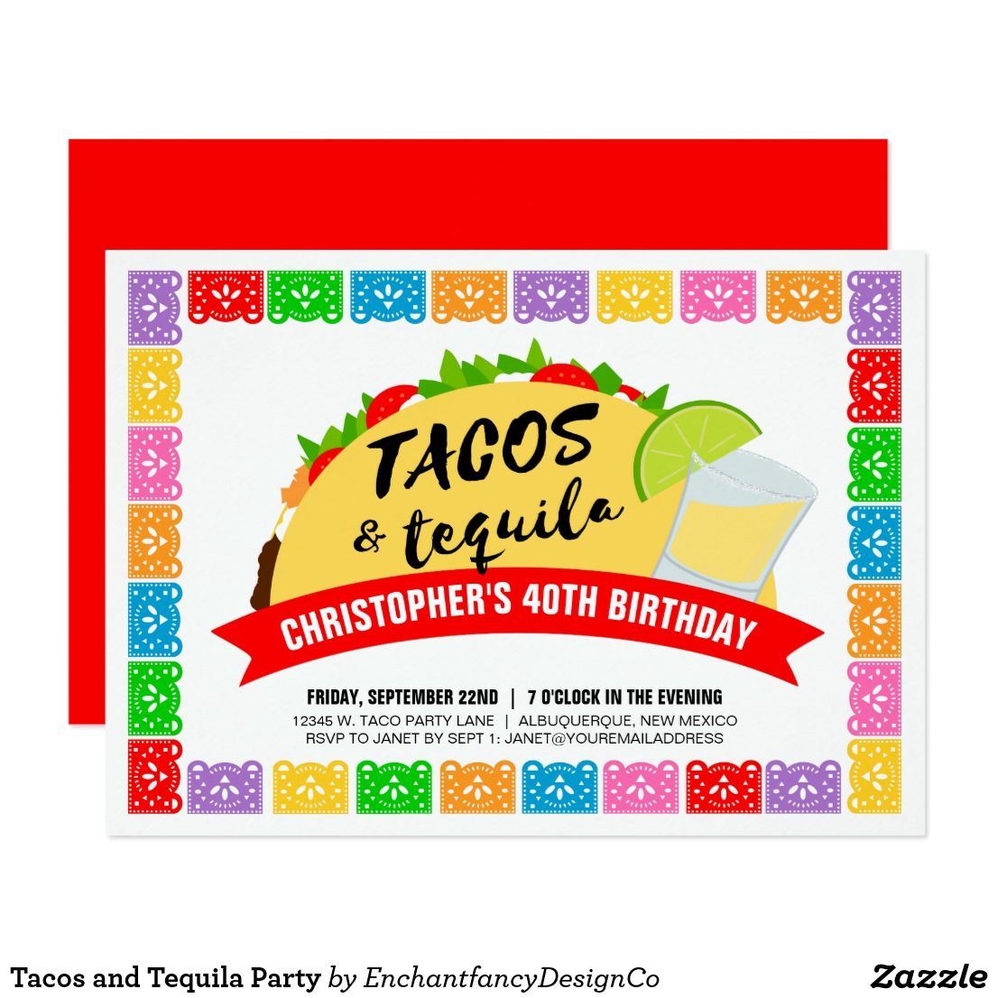 Tacos and Tequila Party Invitation | Taco Party Ideas | Pinterest ...