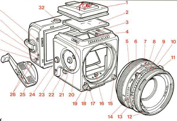 Hasselblad 503cx instruction manual, user manual, free PFD camera - instruction manual