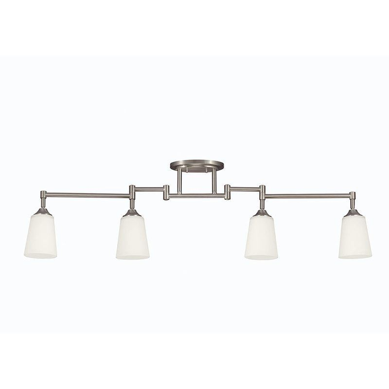 View the sea gull lighting 2530404 track lighting collection 4 light sea gull lighting 2530404 track lighting collection 4 light track kit with adjus brushed nickel indoor lighting track lighting kits aloadofball Choice Image