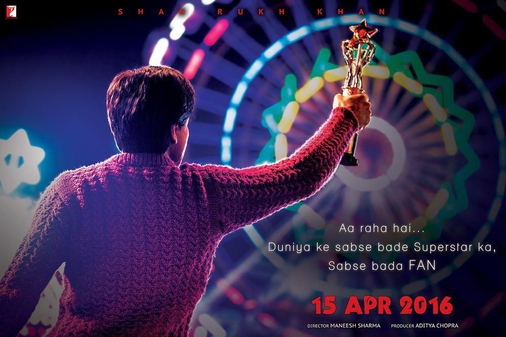 Fan Teaser Poster   Shah Rukh Khan  Rebel Angel